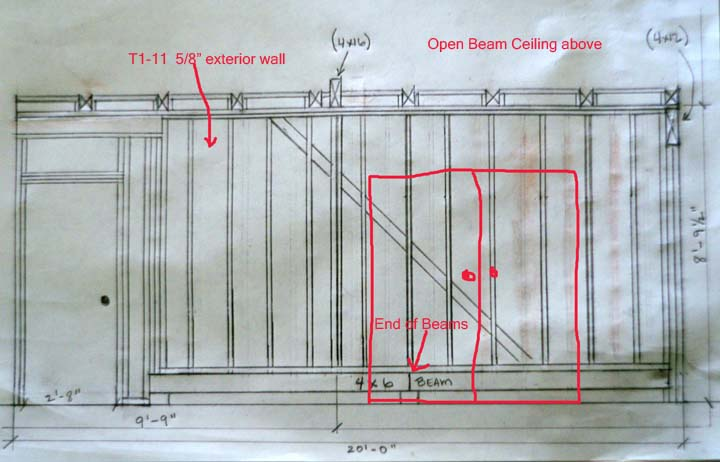 Framing Question Adding Door To Stud Wall With Cross Bracing