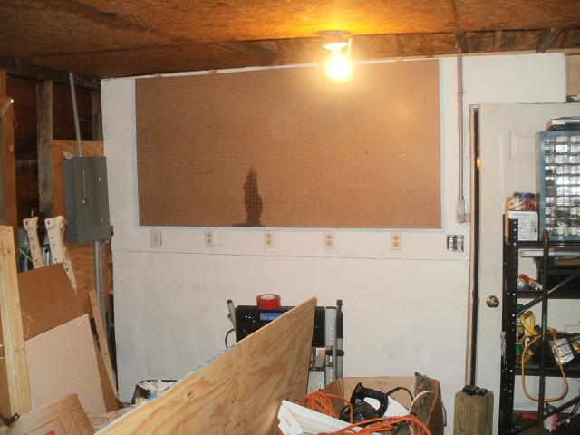 Panel clearance requirements & workbench construction-garage-workshop-workbench-area-drywall-pegboard.jpg
