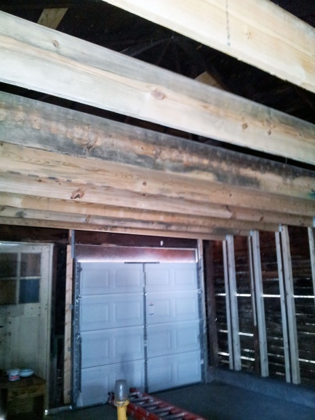 Raising overhead joists in my garage.  Is this a good idea?-garage_joists_complete.jpg
