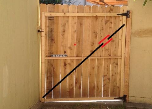 Fix a sagging gate building construction diy chatroom home improvement forum for How to fix a sagging exterior door