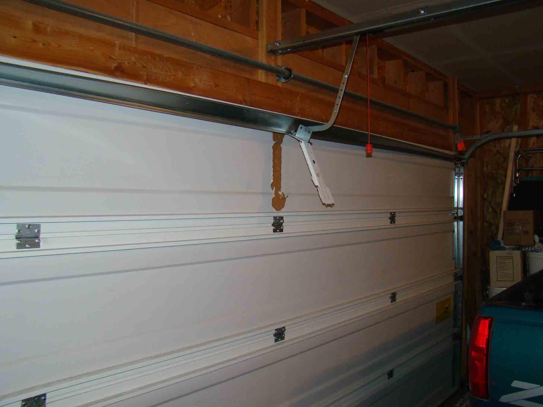 Garage Door Bracket garage door opener ripped from door - building & construction