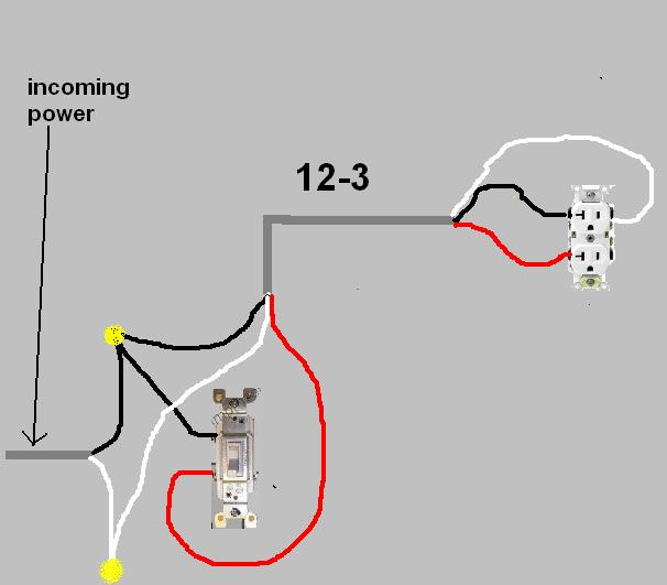 socket controlled by light switch - electrical