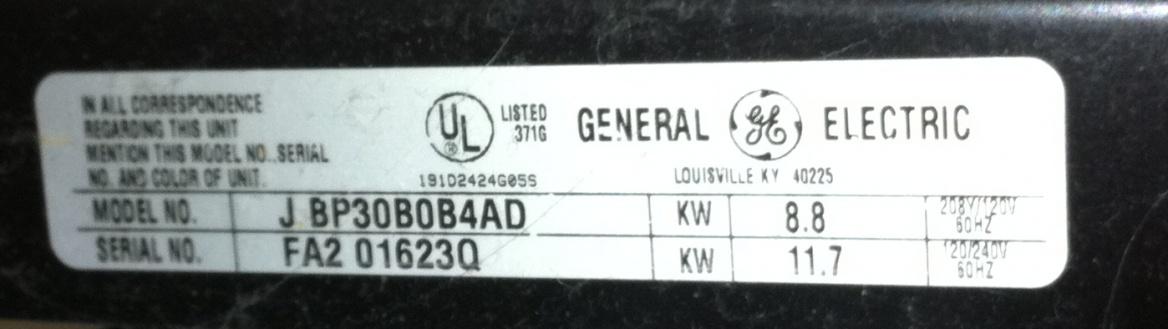 GE Spectra JBP30 oven won't turn off :(-gespectramodel.jpg