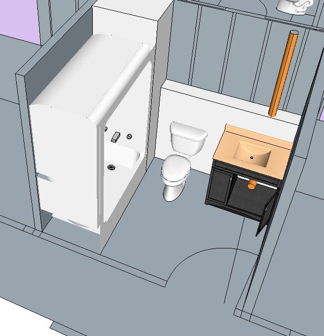Need inspiration/ideas on bathroom layout, with cast iron stack-getting-there.jpg