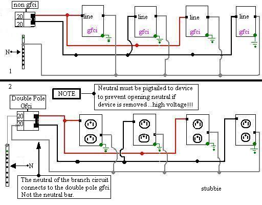 Gfci Electrical Diy Chatroom Home Improvement. Wiring. 220v Gfci Breaker Wiring Diagram At Eloancard.info