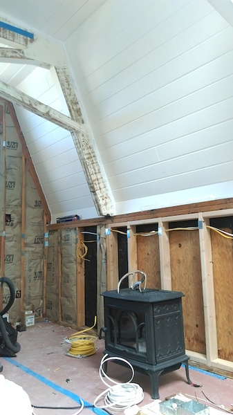 Wall Prep For Wood Burning Stove Install Building
