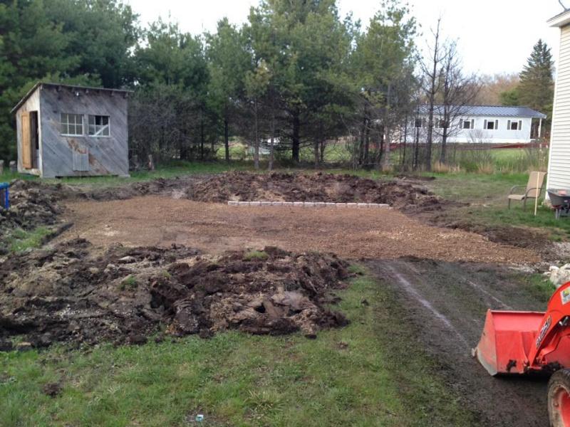 Landscape/Hardscape Project for WET Backyard-grading-gravel.jpg