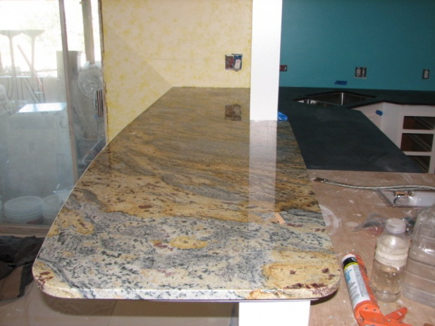 Bar Top Installation Granite Install 002