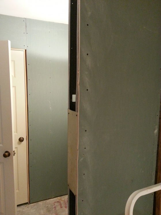 First Time Reno Attempt ...Venting-green-board-up.jpg