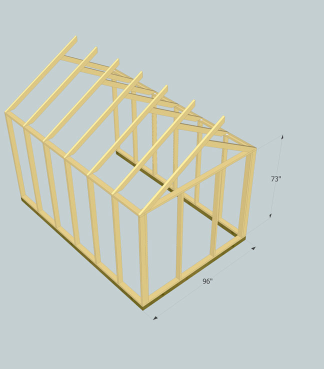 Shed Roof Question Rafter Layout Building