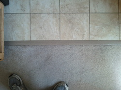 Tile To Linoleum To Tile Tiling Ceramics Marble Diy