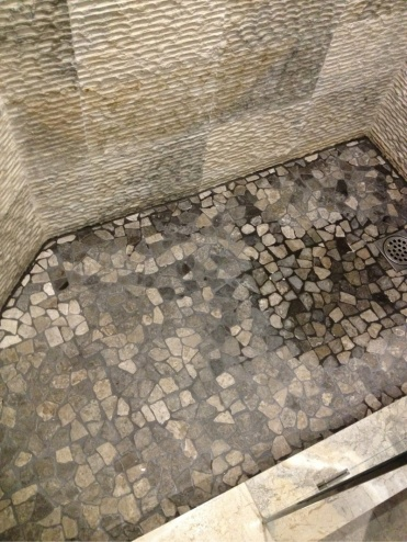 Charcoal Color Grout is White on Shower Floor-grout.jpg