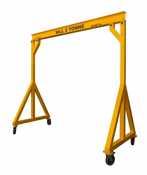 Steel frame gantry crane chain hoist 2 ton-gru.jpg