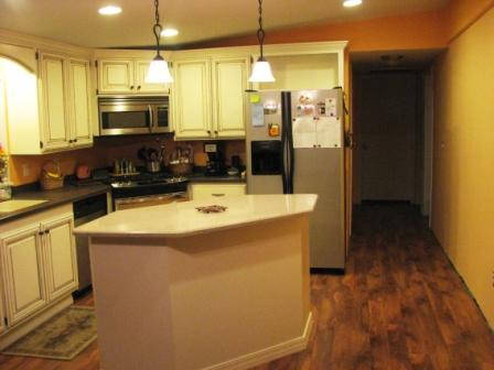 Tips on Glazing Kitchen Cabinets-hallway.jpg