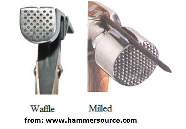 what size framing hammer hammer milled vs wafflejpg