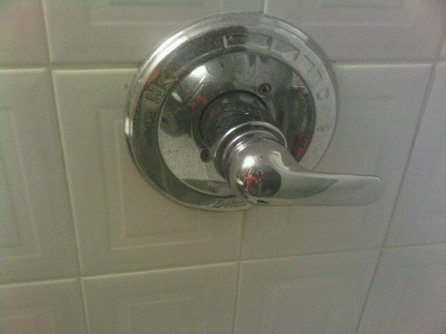Problem Removing Handle Off Of Delta Monitor 1400 Series Tub Shower Faucet Diy Home Improvement Forum