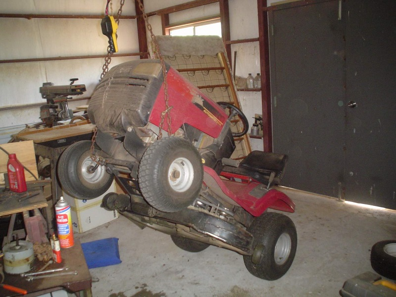 How To Lift Your Lawn Tractor Diy