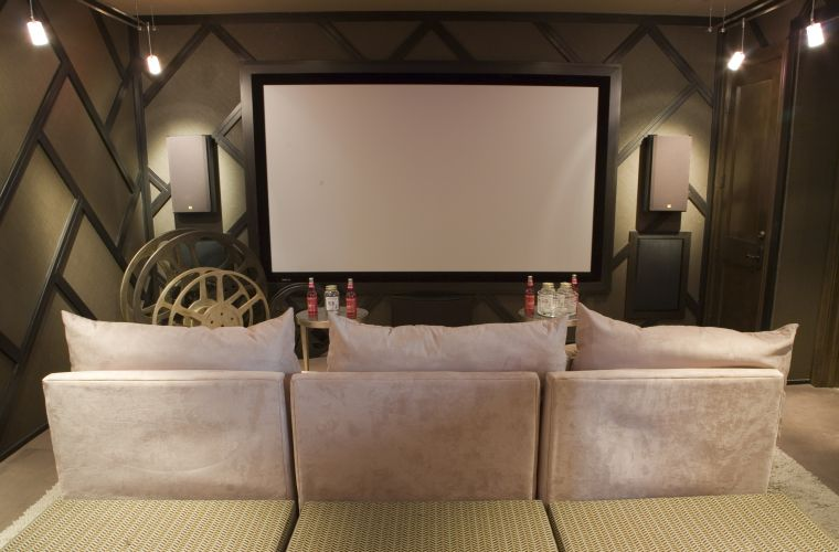Luxury home theater.