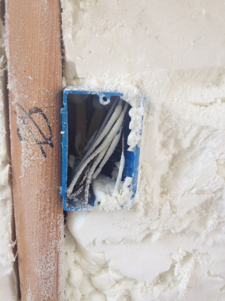 Foam Insulation Inside Electric Boxes Fire Hazard