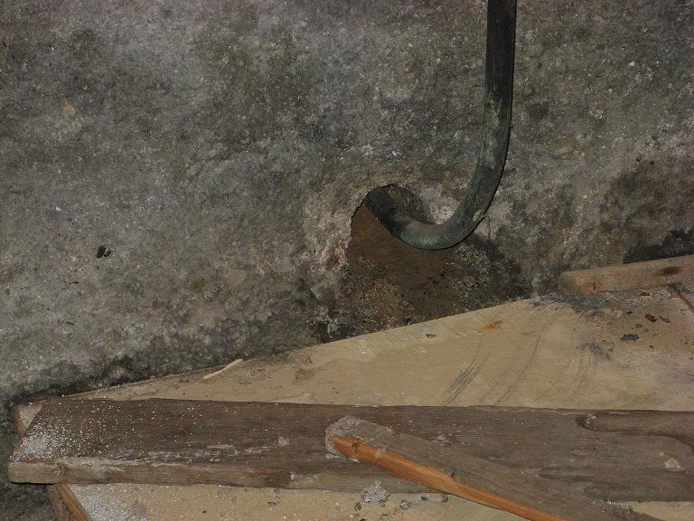 water pouring into basement from around water supply line-house6.jpg