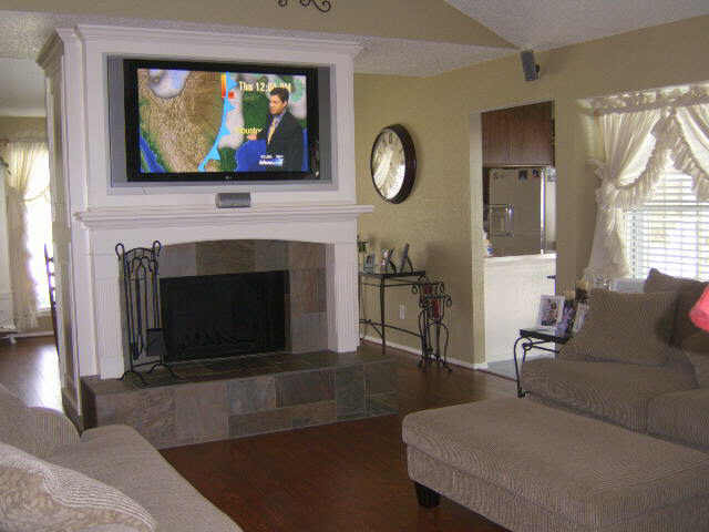 ideal tv height mounting above fireplace home theater diy chatroom home improvement forum. Black Bedroom Furniture Sets. Home Design Ideas