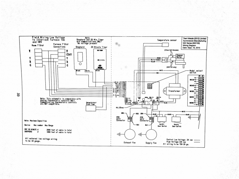 hrv wiring run with furnace fan - hvac