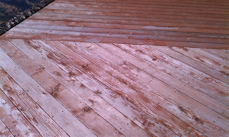 Deck Power Washed Now Many Days Of Rain Before Stain