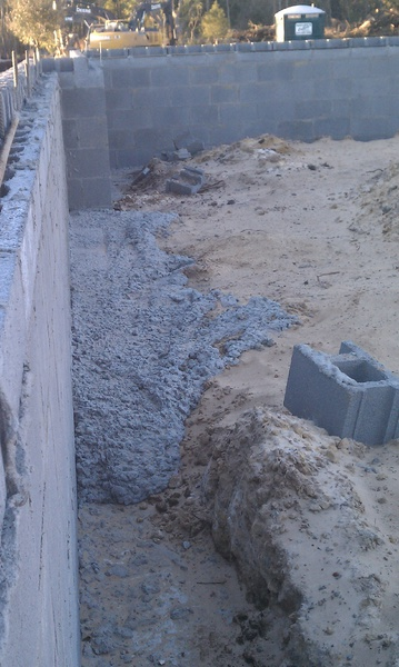 Pouring Footers Cinder Blocks