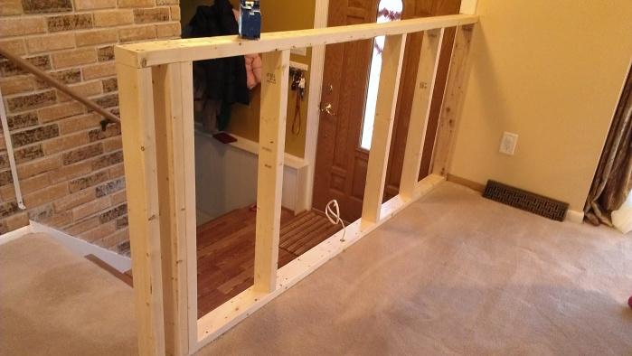 Securing A Half Wall Building Amp Construction Diy