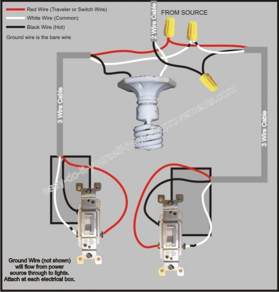 Way Switch Wiring for Kitchen Light Electrical DIY Chatroom