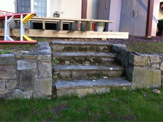 Deck stairs over existing stone retaining wall steps-image-1514380079.jpg