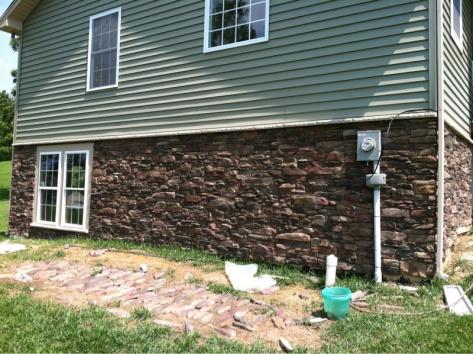 Stone Veneer Meets Siding Flashing Building