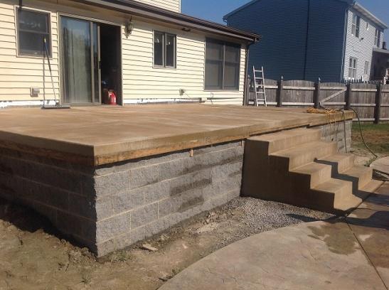 New Colored Concrete Porch Is Blotchy Image 2 3 Jpg