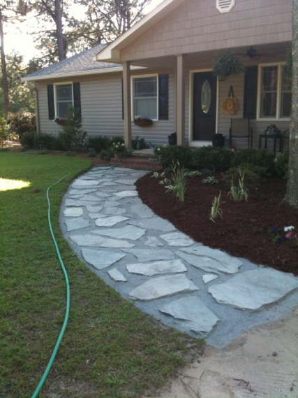 joint fill for irregular flagstone walkway landscaping lawn
