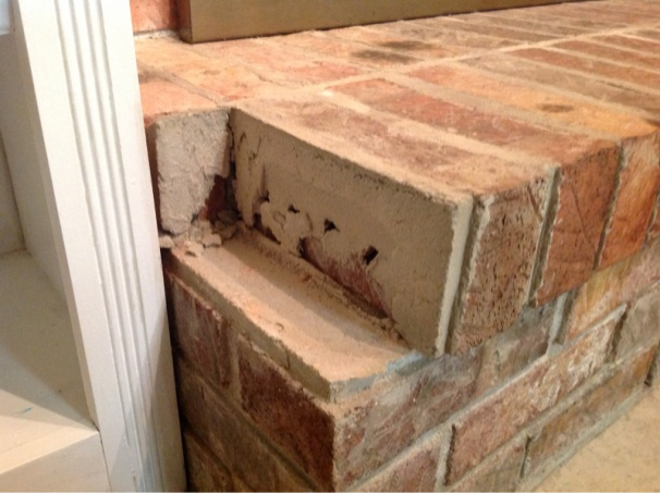 Loose Brick On Fireplace Hearth Image 214389417 Jpg