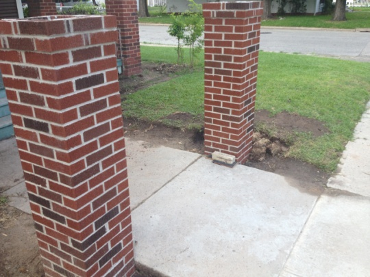 Slab For Brick Column.. What Would You Do? - Concrete ...