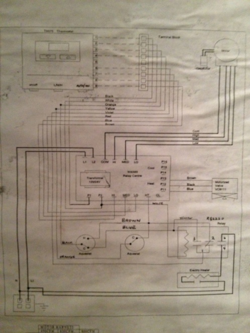 honeywell heat only thermostat wiring diagram images need help honeywell tb8575a1000 fan coil thermostat wiring