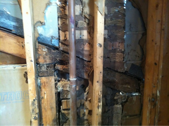 Wall damage in bathroom.-image-3706588171.jpg
