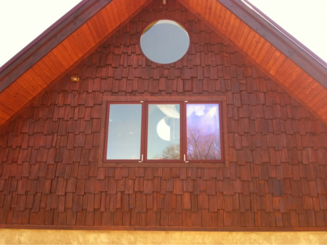 Staining Or Painting New White Cedar Shingle Siding