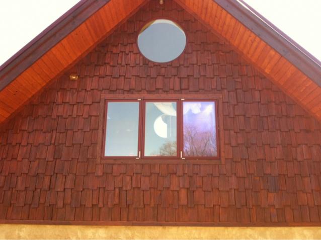 staining or painting new white cedar shingle siding painting