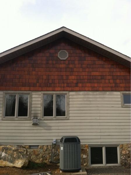 Staining Or Painting New White Cedar Shingle Siding