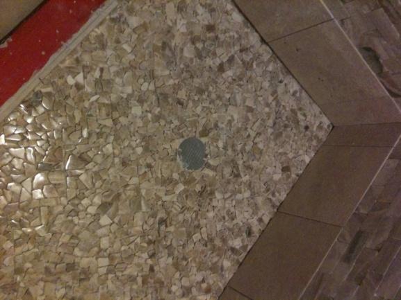 Shower Floor Outside Corner Tiling Ceramics Marble