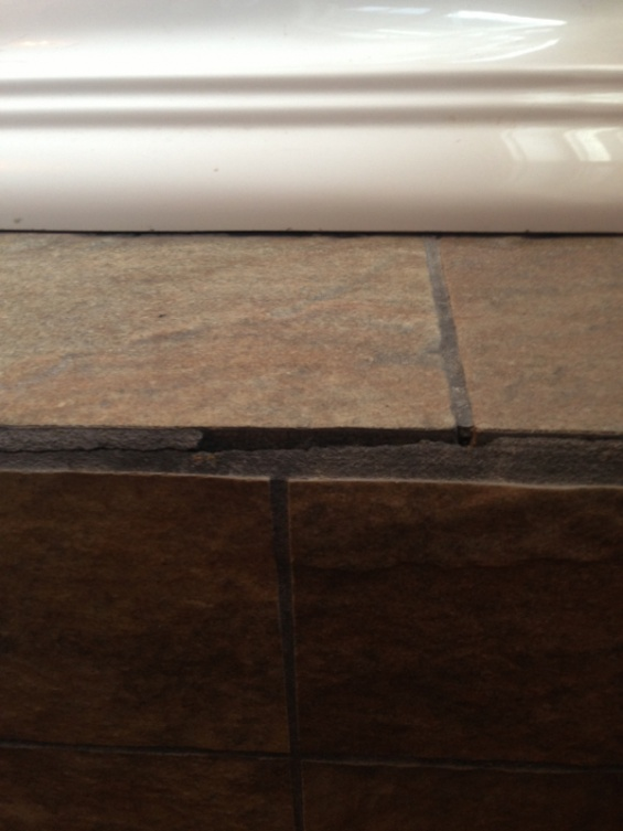 Grout All Cracking Around Jacuzzi Pic Tiling Ceramics