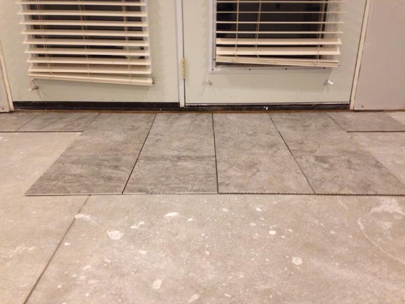 Exterior Door Threshold Spacing Tiling Ceramics Marble