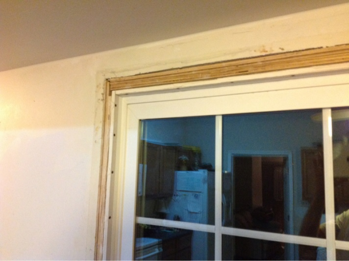 Trim Around Kitchen Patio Door Windows And Doors Diy Chatroom