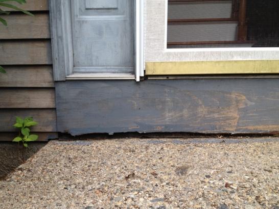Do I Use Wood Or Concrete To Fix My Sunken Front Door Landing ?
