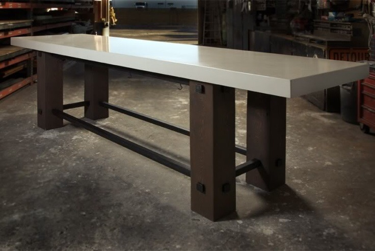 Attirant How To Make A White Concrete Table Top Image
