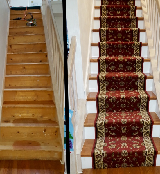 Painting Vs Staining Stairs Image