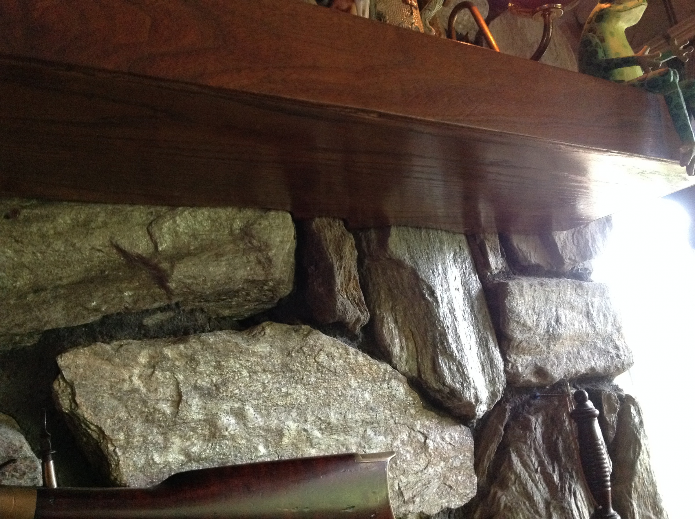 Not sure what to do about stone fireplace - Crown and baseboards.-image.jpg