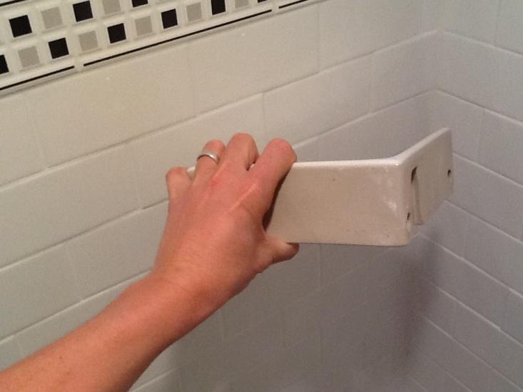 Installing Shower Corner Shelf Image